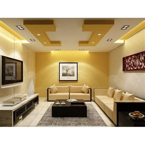 living room false ceiling at rs 60 square drop