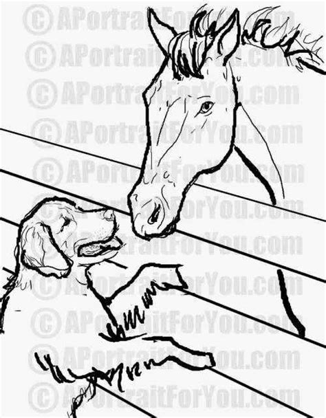 coloring pages of horses and puppies free coloring pages from a portrait for you