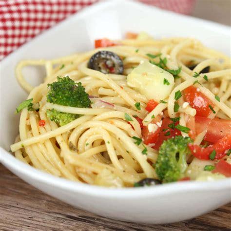 cold salad recipes spaghetti salad italian dressing it is a keeper