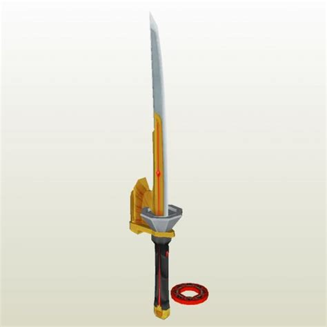 How To Make A Paper Power Ranger Sword - power rangers archive pepakura eu