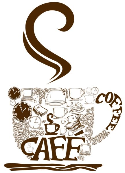 decorative art in coffee decorative coffee cup vector clipart time for clipartbarn