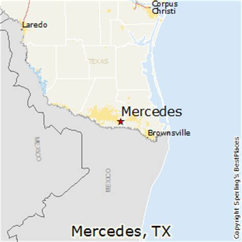 map of mercedes texas best places to live in mercedes texas