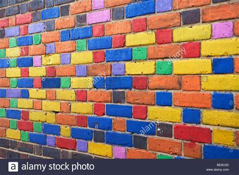 multi colored walls multi coloured brick wall stock photo royalty free image