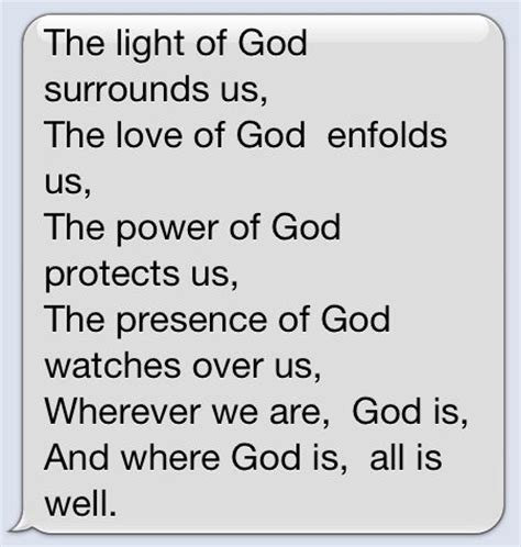 the light of god surrounds me quotes