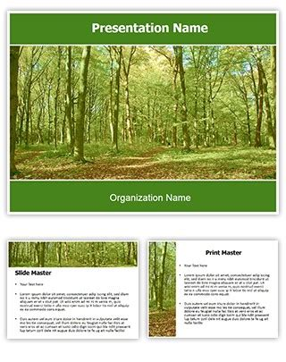 template forest free professional green forest editable powerpoint template