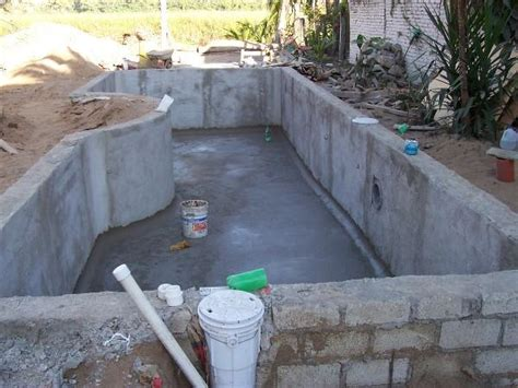 How To Build A Pool In Your Backyard Home Built Swimming Pool Building A Swimming Pool In Mexico Pool Swimming