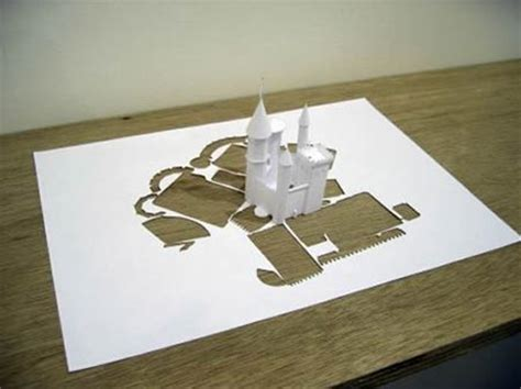 what is origami kirigami pattern 3d castle