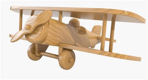 model varnished wooden airplane toy
