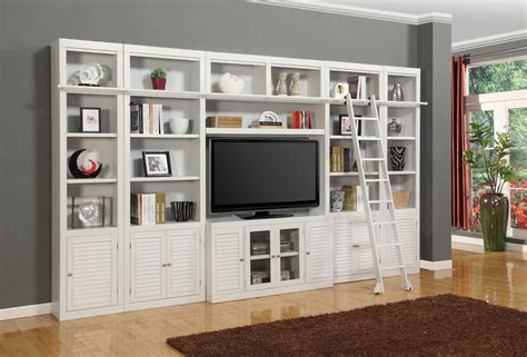 Parker House Boca Six Piece Entertainment Center Bookcase Entertainment Centers With Bookshelves