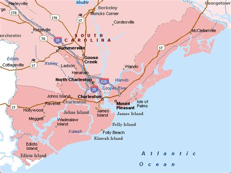 and south carolina beaches map folly south carolina worlds best towns