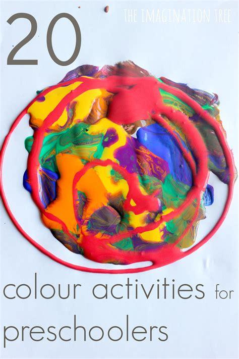 20 Colour Activities For Preschoolers The Imagination Tree Colour Activities For Preschoolers