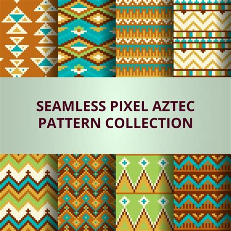 aztec pattern for photoshop aztec amazing pixel pattern vector free download