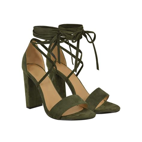 ankle high heel sandals grey suede ankle high strappy lace up peep toe block high