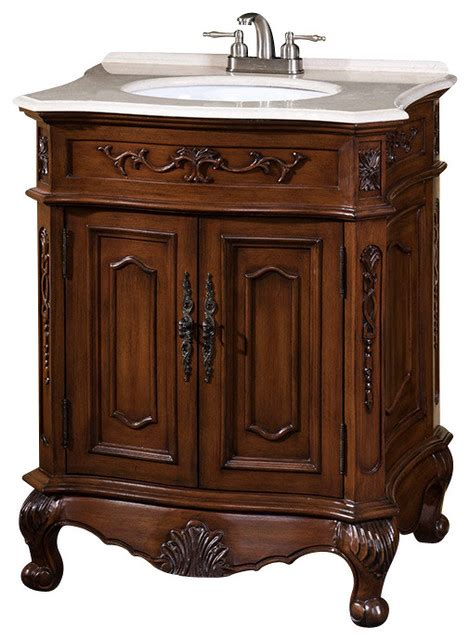 29 Inch Bathroom Vanity 29 Inch Single Sink Vanity With Marble Top Traditional Bathroom Vanities And Sink Consoles