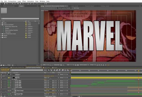 template after effects opening marvel opening screen free after effects template