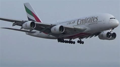 emirates yyz emirates a380 800 a6 euj landing on rwy 23 in toronto