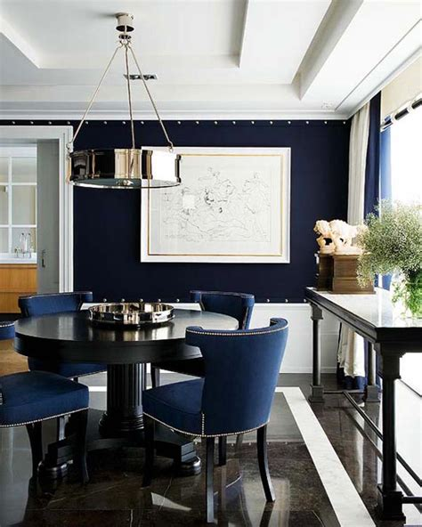 blue dining room dining rooms navy blue simple home decoration