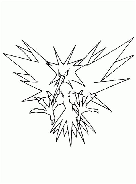 pokemon zapdos coloring pages gallery zapdos coloring pages