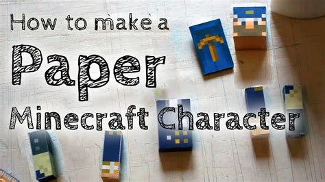 How To Make Your Own Paper - papercraft minecraft papercraft mini house with furniture
