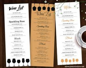 wine menu templates wine list wine menu flyer templates creative market