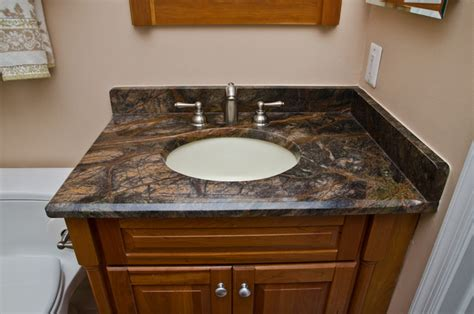 granite top vanities for bathrooms granite bathroom vanities and tub surrounds eclectic