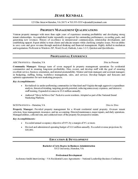administrative manager resume sle assistant property management resume sales assistant