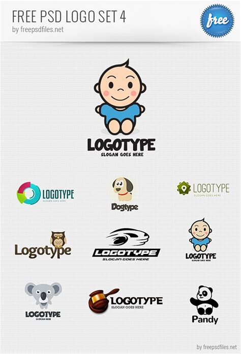 logo design photoshop template psd logo design templates pack 4 free psd files