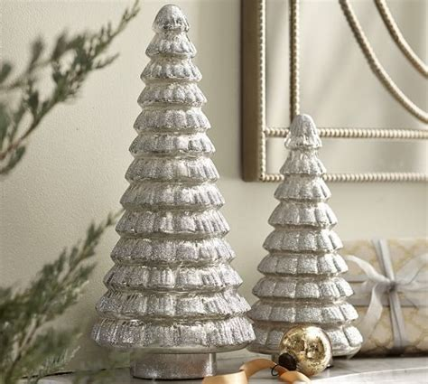 mercury glass glitter tree pottery barn