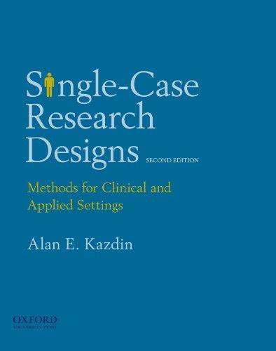 Pdf Single Research Designs Kazdin Rent cheapest copy of single research designs methods for