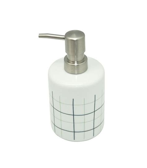 distributeur de savon salle de bain distributeur de savon en porcelaine blanche avec carreaux