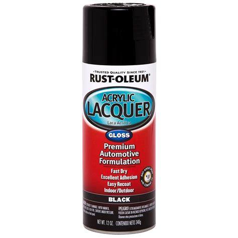 acrylic lacquer paint rust oleum automotive 12 oz black gloss acrylic lacquer