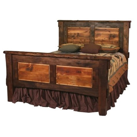 rustic bed blue ridge rustic walnut bed
