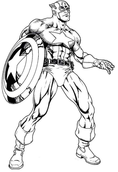 captain america symbol coloring pages
