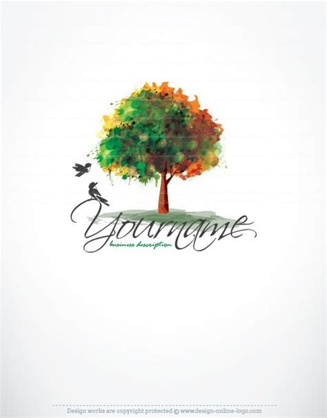 Custom Home Designs by Premium Exclusive Design Tree Birds Logo Free Business