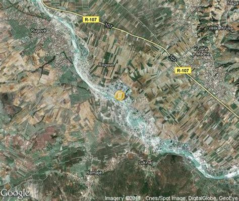 maps kosovo satellite white drin waterfall popular tourist places
