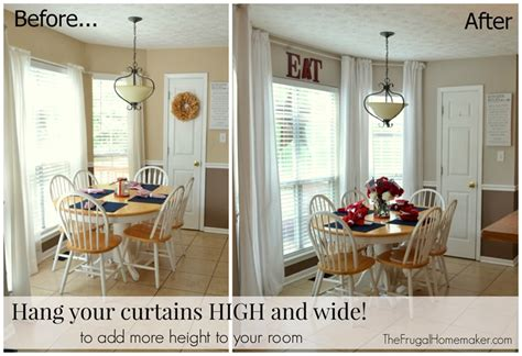 Hanging Curtains High And Wide Designs No Sew Inexpensive Curtains Made From Sheets