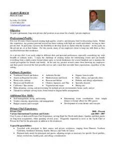 Chef Objective Resume by Aaron Kirsch Chef Resume