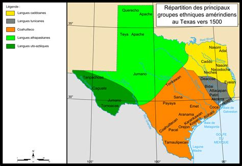 map of indian tribes in texas indian tribes of texas map