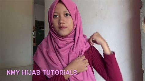 tutorial pashmina tanpa ciput tutorial hijab pashmina sehari hari tanpa ninja ciput