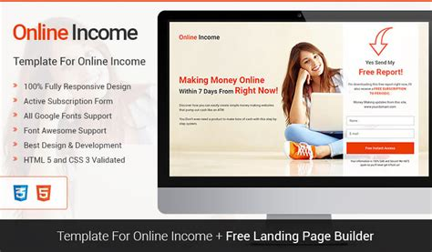 squeeze page template lead income squeeze page template with free