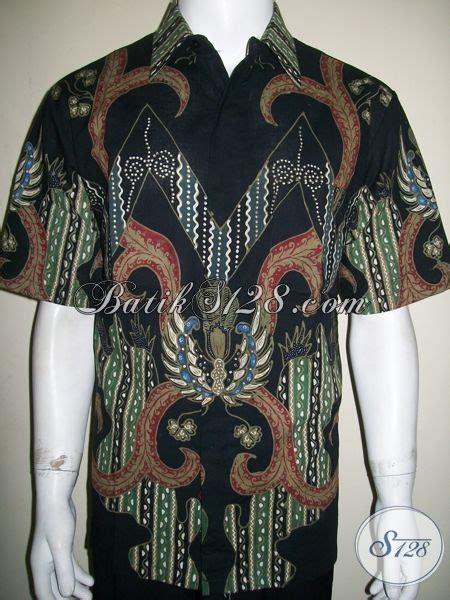 Kemeja Batik Pria Batik Tulis Lengan Pendek Warna Soft Baru Code B L kemeja batik pria murah elegan batik tulis warna hitam