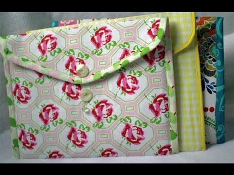 How To Make A Handmade Folder - how to make fabric folders envelope style trailer