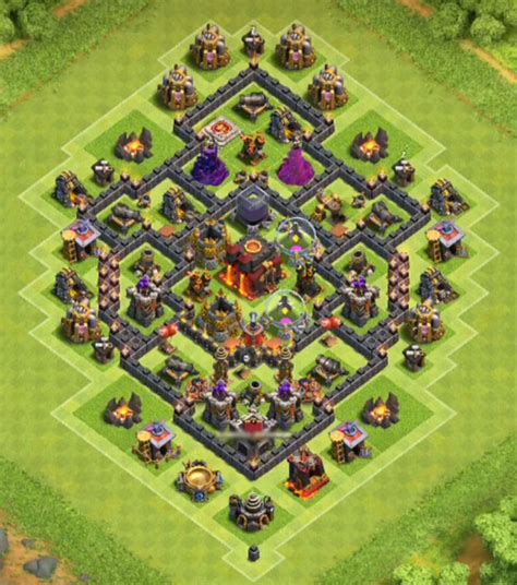coc town hall 7 12 best town hall 7 hybrid bases 2018 new 3 air defenses
