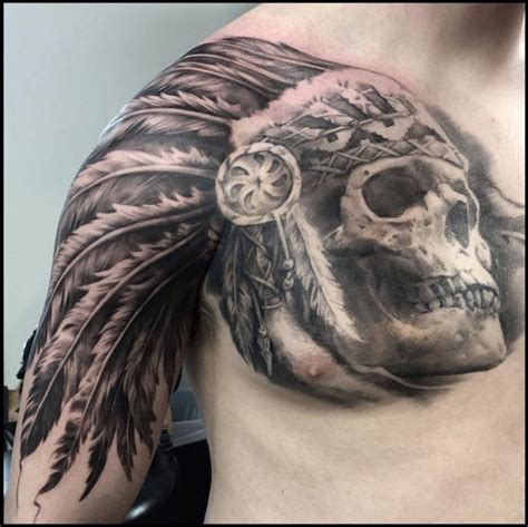 indian skull tattoo designs american skull headdress venice