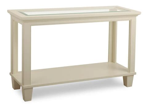 georgetown 16x46 sofa table w glass top handstone