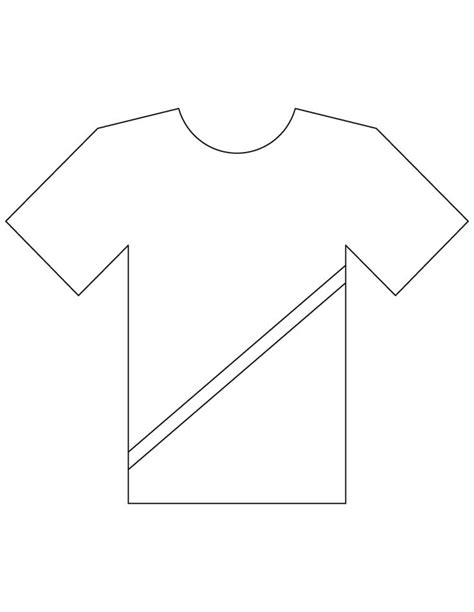Coloring Page T Shirt by Free Coloring Pages Of Blank Shirt