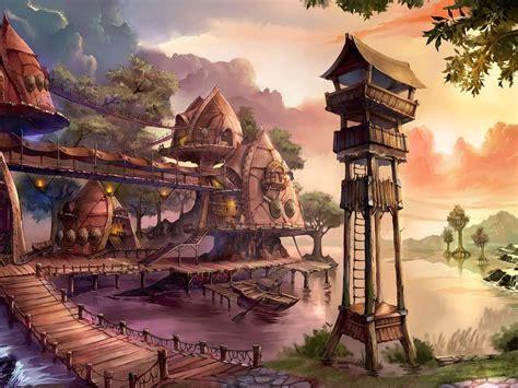 fantasy village wallpaper allwallpaperin  pc en