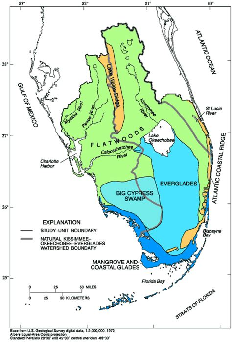 florida geologic map sofia circular 1134 the system physiography