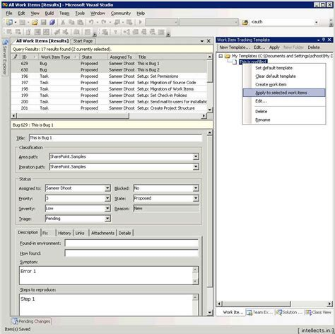 tfs build process template tfs 2005 customize work item template and process template