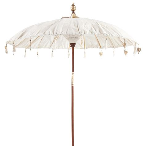 Nachttischle Schirm by Sonnenschirm Ubud Elfenbein Maisons Du Monde